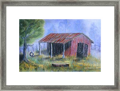 By The Barn Out Back Framed Print by Jerry McElroy
