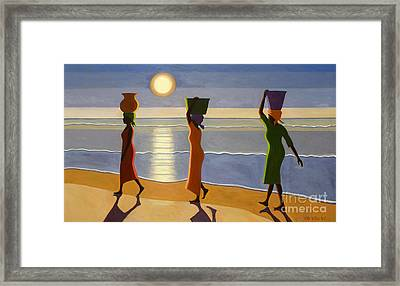 By The Beach Framed Print by Tilly Willis