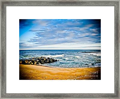 By The Beautiful Sea Framed Print by Colleen Kammerer