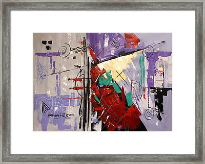 By The Blood Of Jesus Framed Print by Anthony Falbo