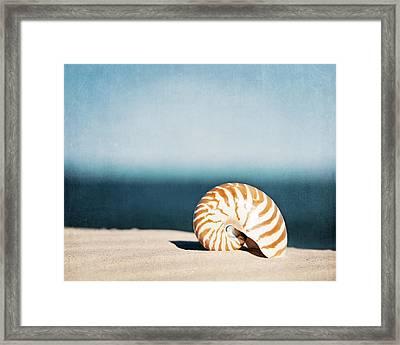 By The Blue Framed Print by Carolyn Cochrane