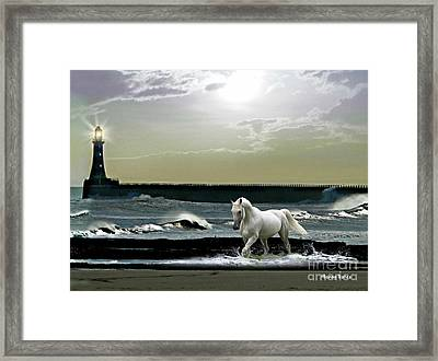 By The Light Of The Silvery Moon Framed Print by Morag Bates