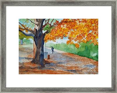 By The Rideau Canal Framed Print by Lise PICHE