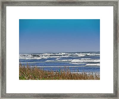By The Sea Framed Print by Dennis Dugan