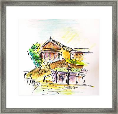 By The Waterworks Framed Print by Joseph Levine