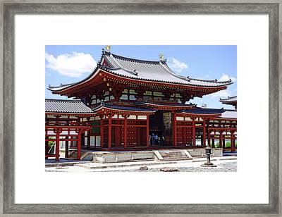 Byodo-in Temple Central Hall - Japan Framed Print by Daniel Hagerman