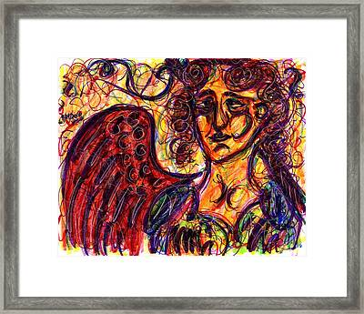 Byzantine Angel Framed Print by Rachel Scott