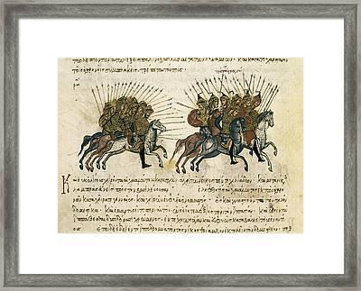 Byzantine Empire. Campaigns Framed Print by Everett