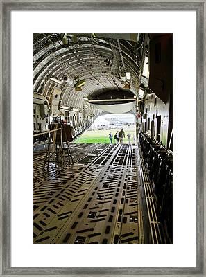 C-17 Globemaster Cargo Bay Framed Print by Mark Williamson