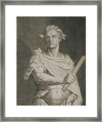 C. Julius Caesar Emperor Of Rome Framed Print by Titian
