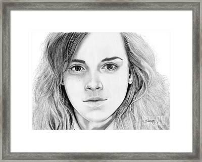 Hermione Granger Framed Print by Suranga Basnagala