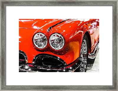 C1 Red Chevrolet Corvette Picture Framed Print by Paul Velgos