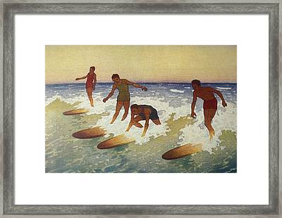 C.1927 Hawaii, Painting, Charles Framed Print by Hawaiian Legacy Archive