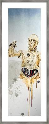 C3po Framed Print by David Kraig