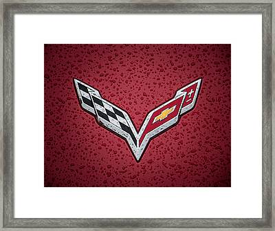 C7 Badge Framed Print by Douglas Pittman