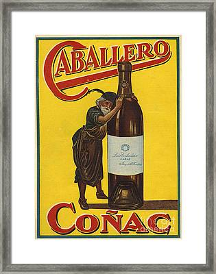 Caballero  1935  1930s Spain Cc Brandy Framed Print by The Advertising Archives
