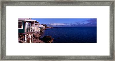 Cabanas On The Beach, Bermuda Framed Print by Panoramic Images