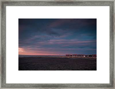 Framed Print featuring the photograph Cabanes by Thierry Bouriat