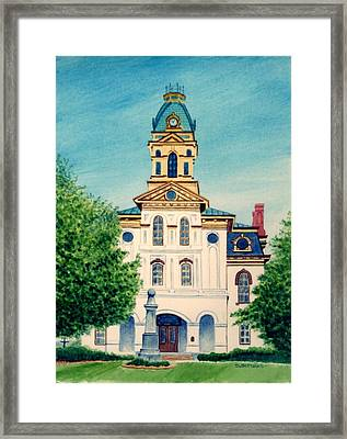 Cabarrus County Courthouse Framed Print by Stacy C Bottoms