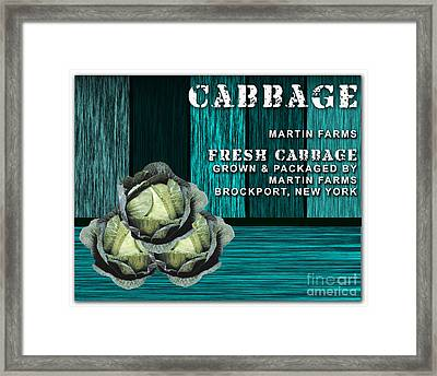 Cabbage Farm Framed Print by Marvin Blaine