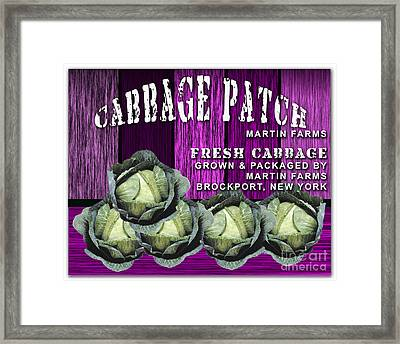 Cabbage Patch Farm Framed Print by Marvin Blaine
