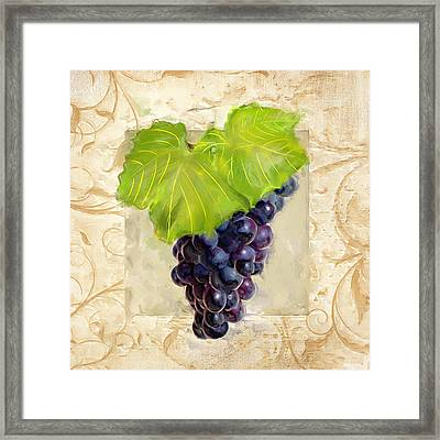 Cabernet Sauvignon II Framed Print by Lourry Legarde