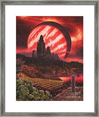 Cabernet Wine Country Fantasy Framed Print by Stu Shepherd