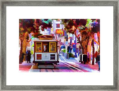 Cable Car At The Powell Street Turnaround Framed Print by Bill Gallagher