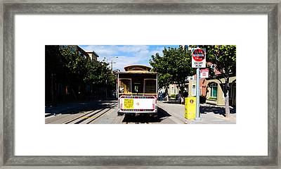 Cable Car On A Track On The Street, San Framed Print by Panoramic Images