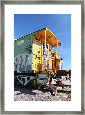 Caboose Framed Print by Diane Greco-Lesser