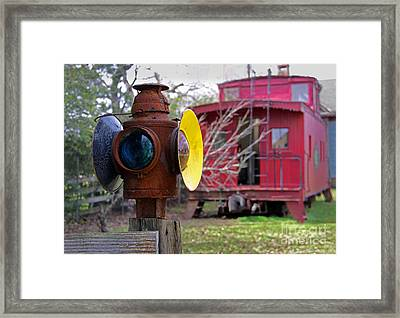 Caboose Framed Print by Gayle Johnson