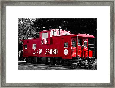 Caboose Framed Print by Shelby  Young
