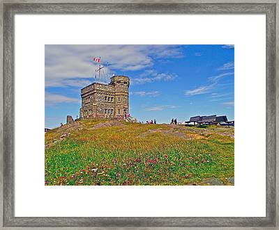 Cabot Tower In Signal Hill National Historic Site In Saint John's-nl Framed Print by Ruth Hager