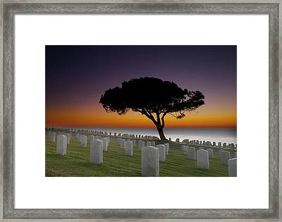 Cabrillo National Monument Cemetery Framed Print by Larry Marshall
