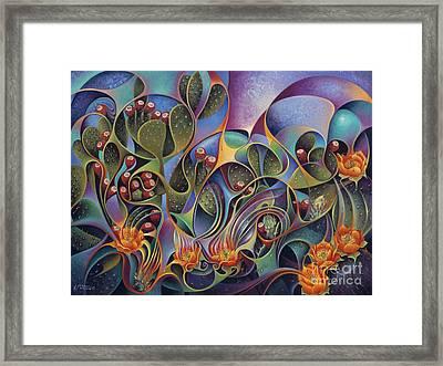Cactus Dinamicus Framed Print by Ricardo Chavez-Mendez