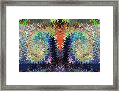 Cactus Shaped Upside Down Wave Pattern Artistic Abstract Deco Decoratios By Navinjoshi Featured Arti Framed Print by Navin Joshi
