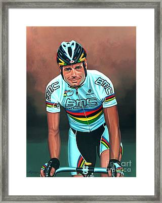 Cadel Evans Framed Print by Paul Meijering
