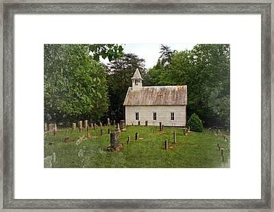 Cades Cove Church Framed Print by Marty Koch