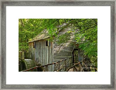 Cades Cove Grist Mill Framed Print by Adam Jewell