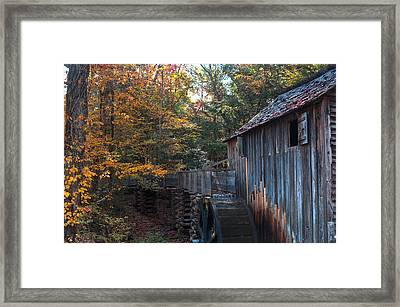 Cades Cove Mill Framed Print by Steve Gadomski