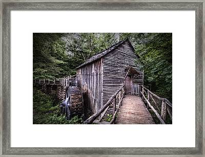 Cades Cove Rustic Cable Mill  Framed Print by Thomas Schoeller