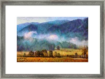 Cades Cove Tennessee  Framed Print by Elizabeth Coats