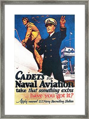 Cadets For Naval Aviation Take That Framed Print by McClelland Barclay