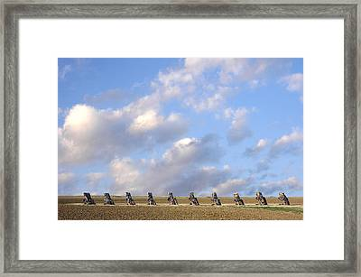 Cadillac Ranch Too Framed Print by Greg Kopriva