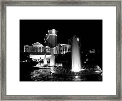 Caesars Fountain 2 Framed Print by Jenny Hudson