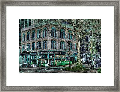 Cafe Bengoti In Pioneer Square - Seattle Washington Framed Print by David Patterson