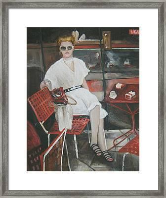 Cafe Budapest Framed Print by Vasiliki Yiakatou