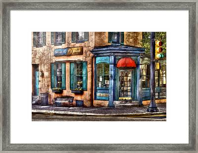 Cafe - Cafe America Framed Print by Mike Savad