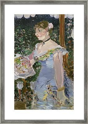 Cafe Concert Singer  Framed Print by Edouard Manet
