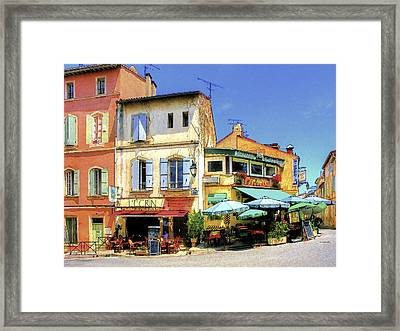 Cafe Corner Framed Print by Douglas J Fisher